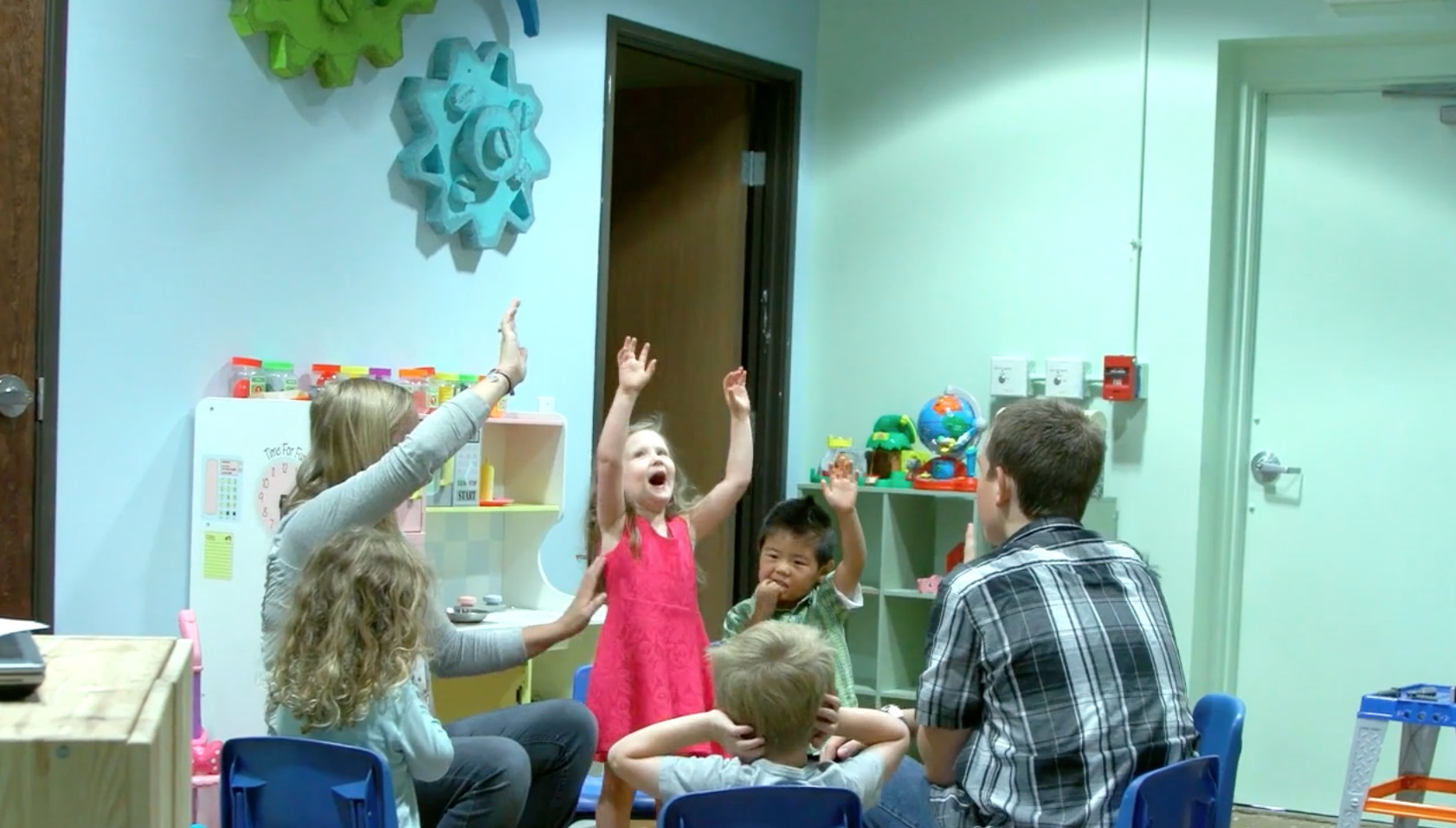 Preschool - Interactive activities, crafts, games and large group Bible Stories delight our preschools and fill their hearts with wonder about our BIG GOD. Our preschoolers also love our giant, indoor play area with climbing wall and slide!