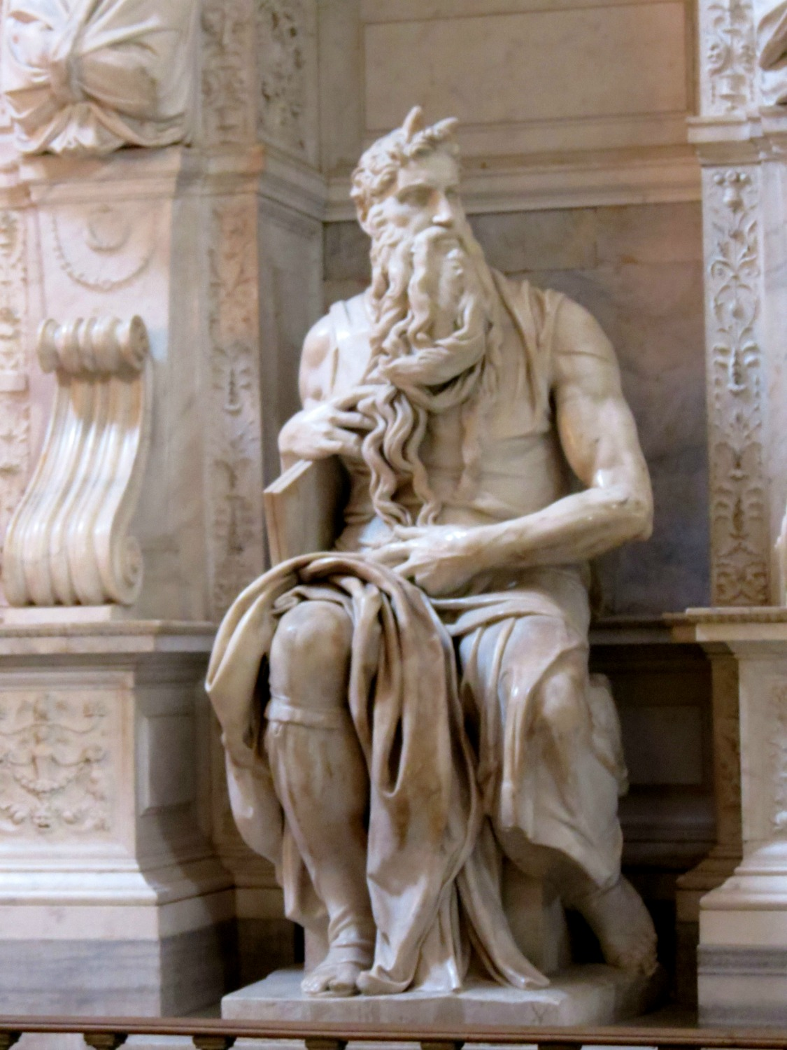 Michelangelo's Moses, Rome, Italy   Photo by Eileen Condon