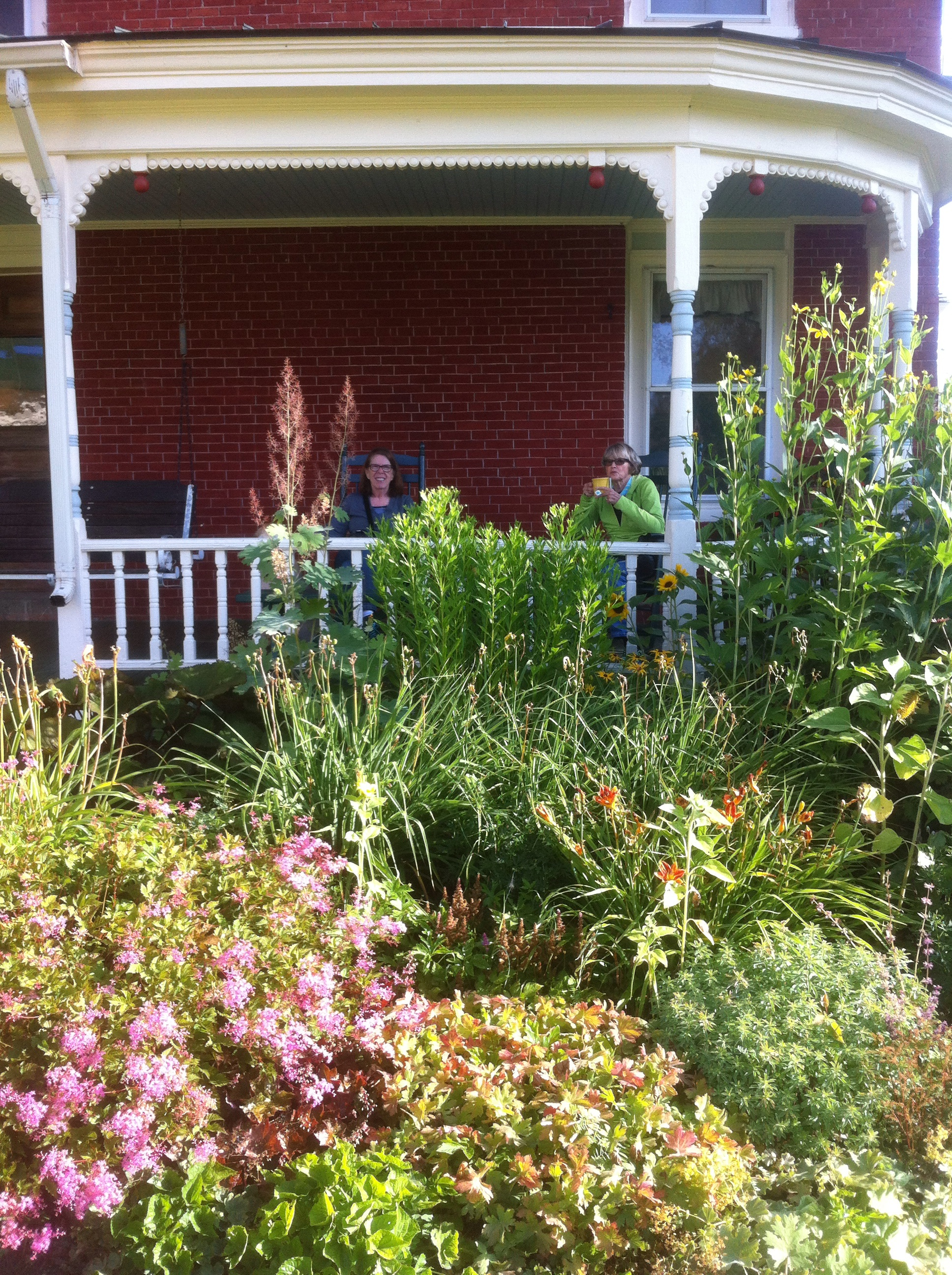 Farm women on porch