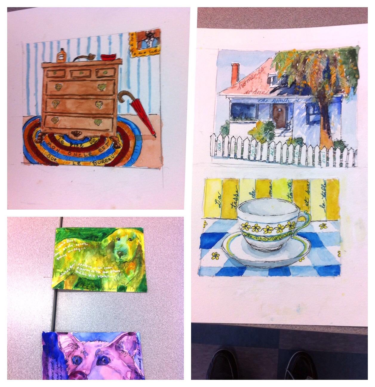 Edie's paintings
