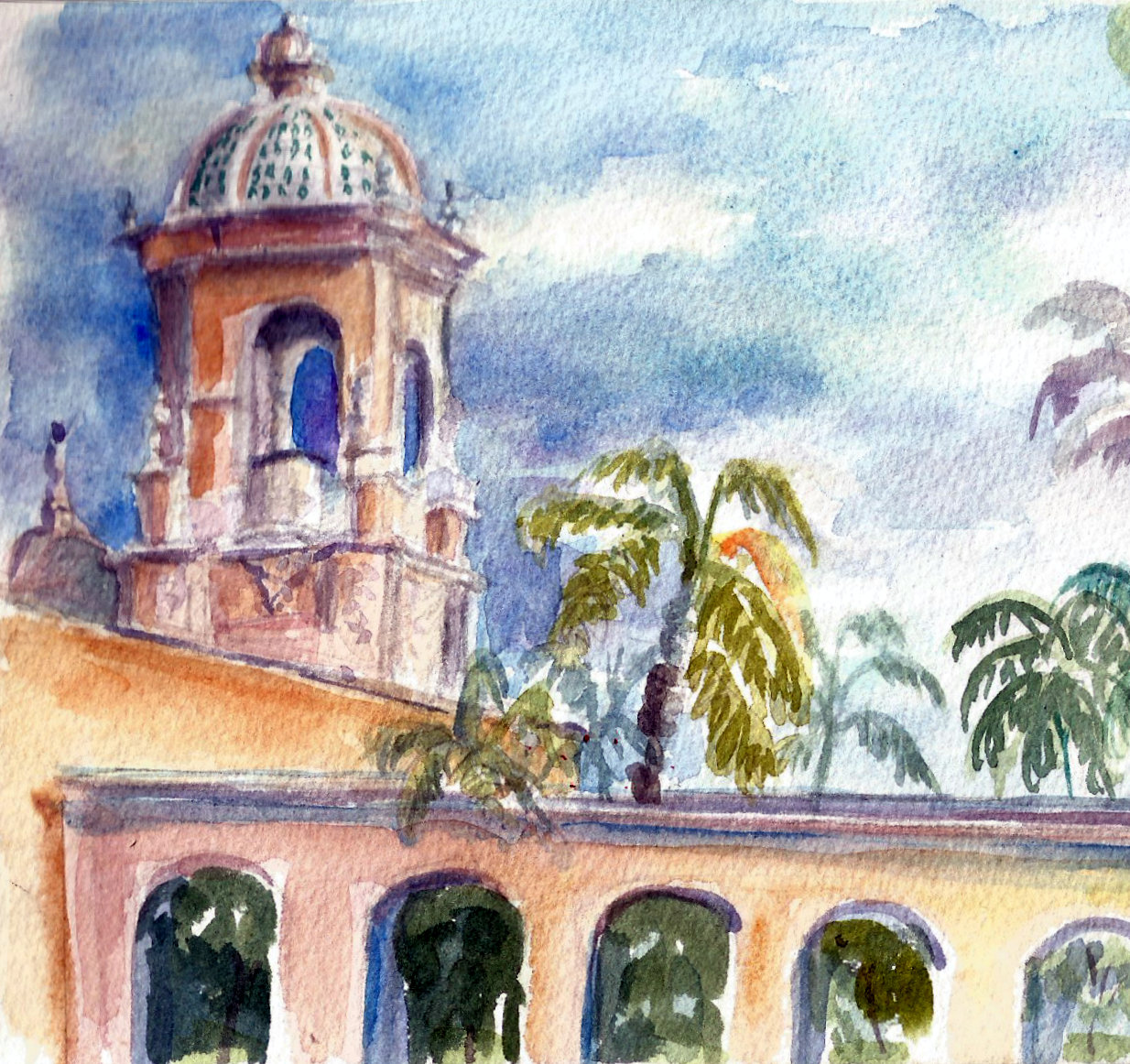 Painting In Balboa Park Anywhere Art