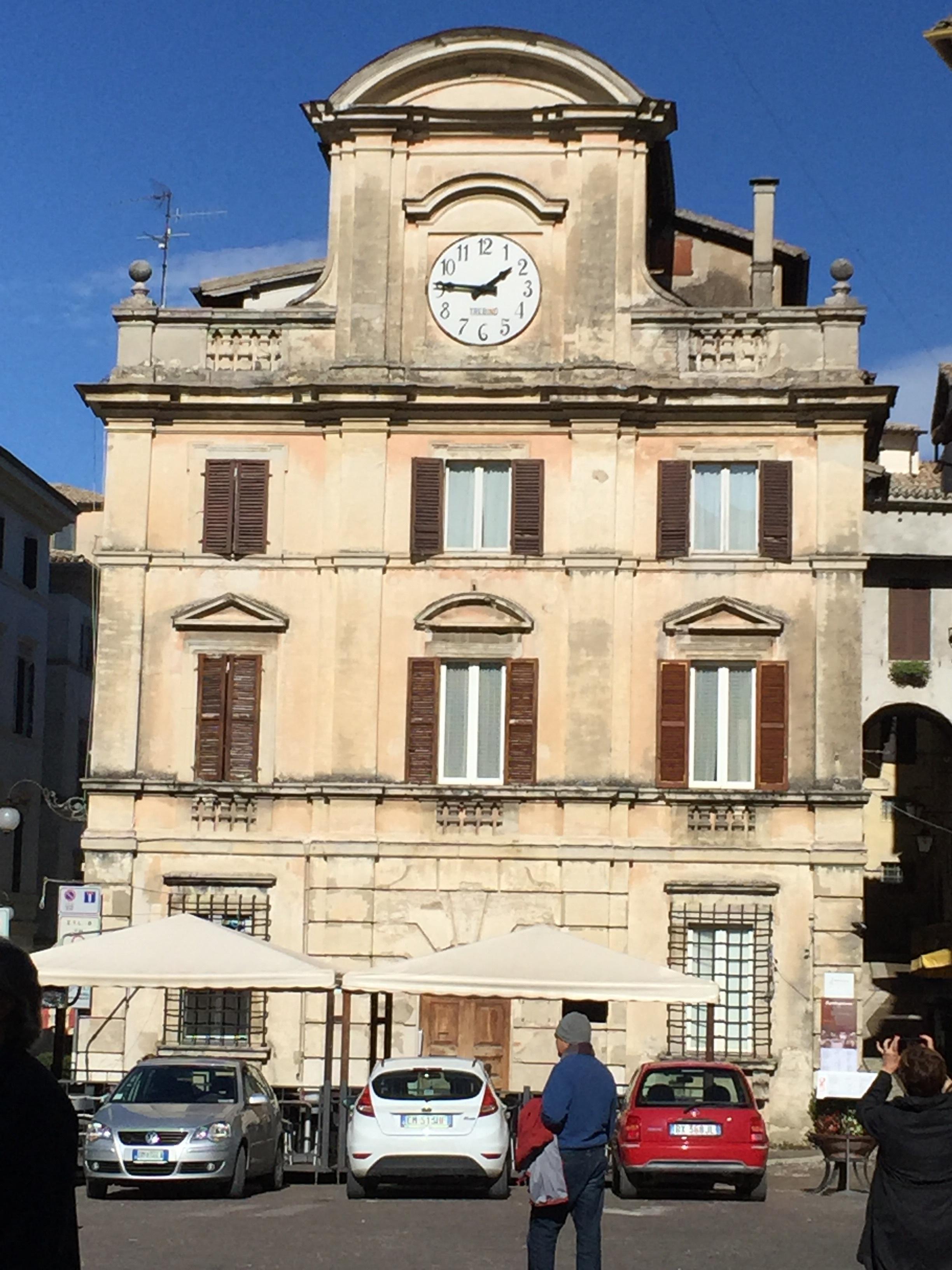 Spoleto building with clocktower