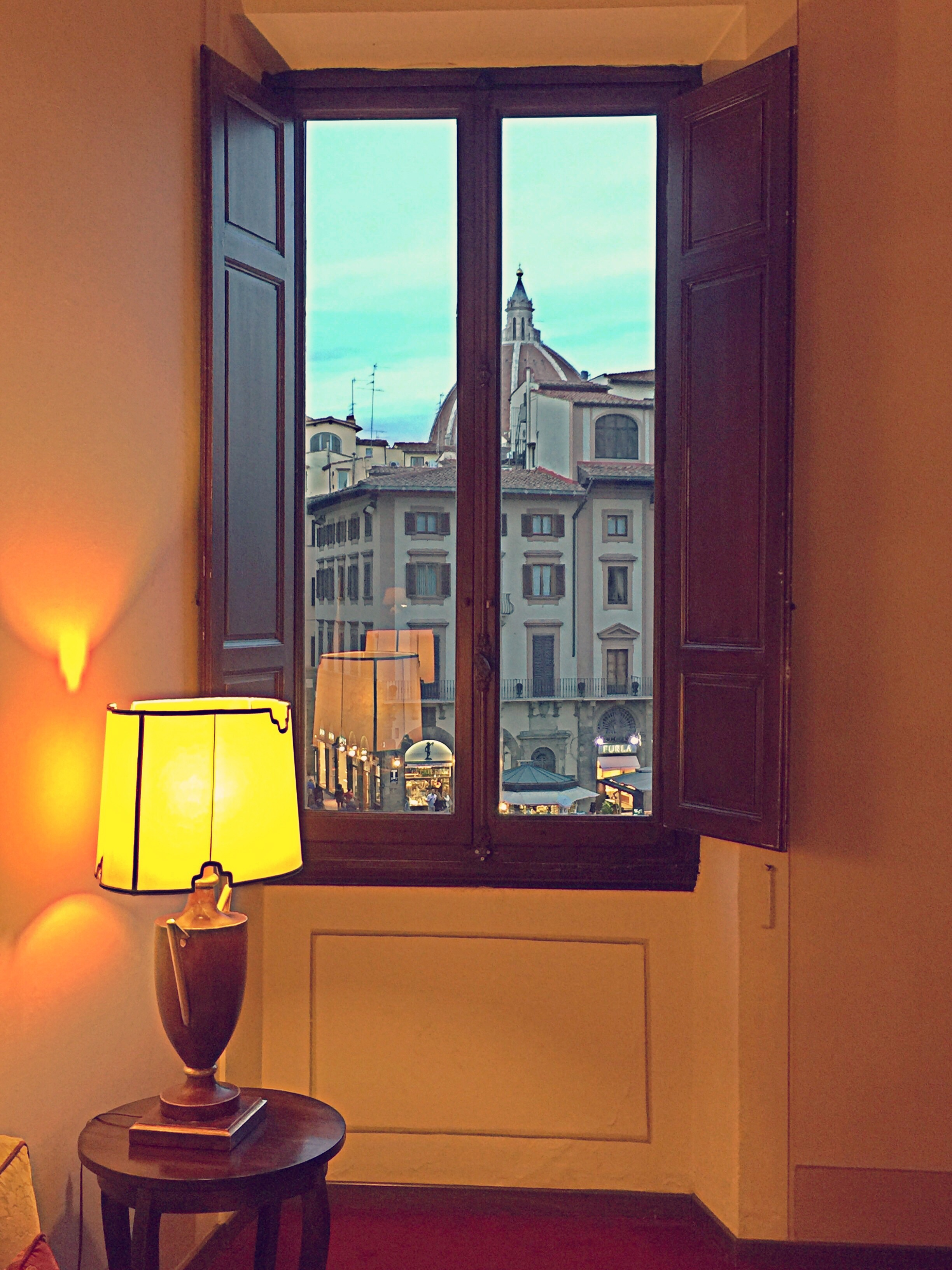 View from hotel window in Florence
