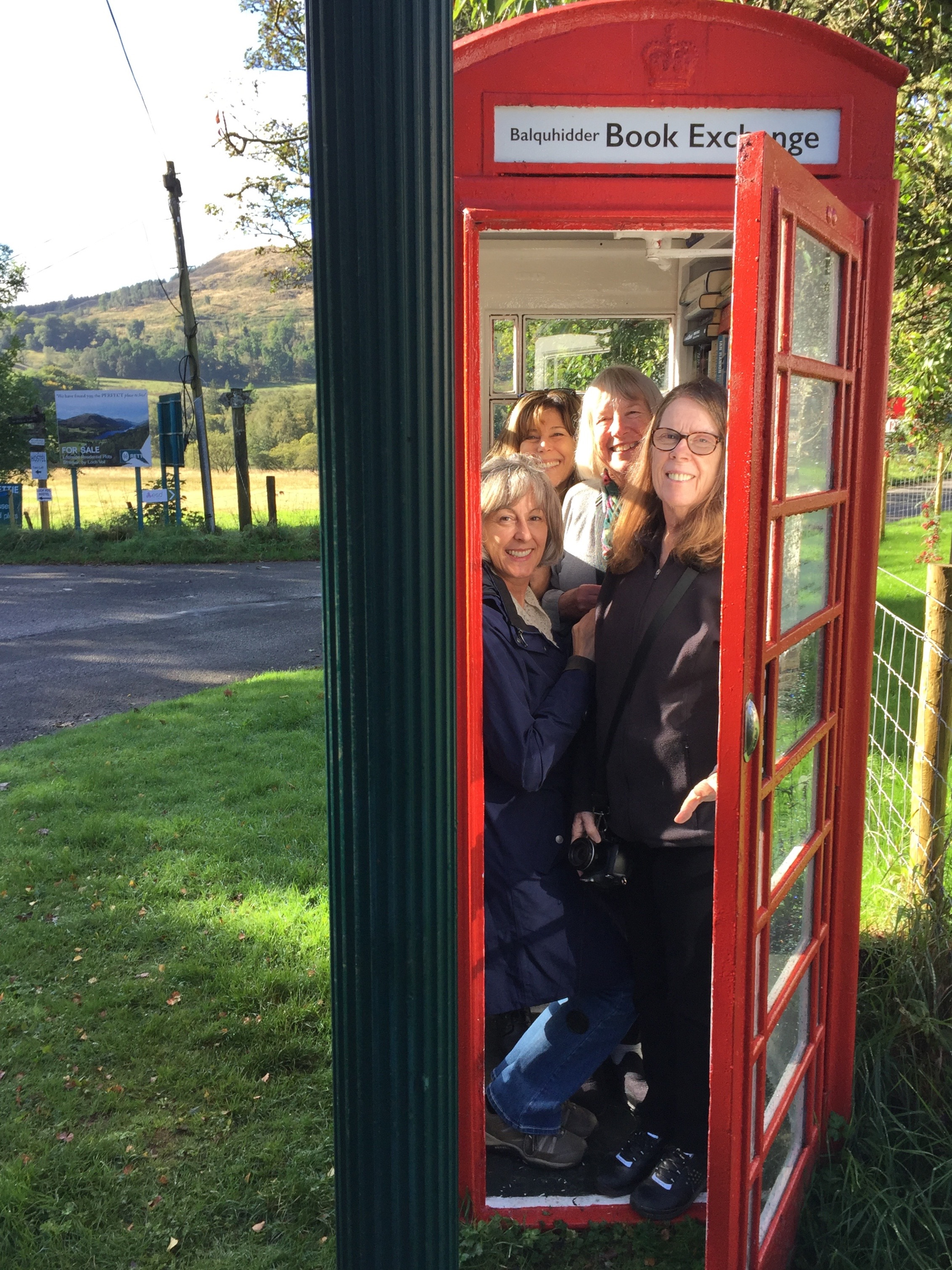 How many Anywhere Artists can you fit in a Scottish phone booth?
