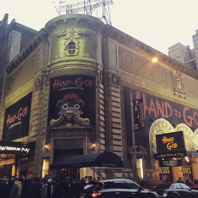 Opening night! #handtogod 👋 and I made it from brooklyn.. I'm impressed👍... With myself 😜 #itwasnoteasy