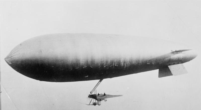 SS-Class Blimp, capable of protecting the Royal Navy from U-boats in the First World War.