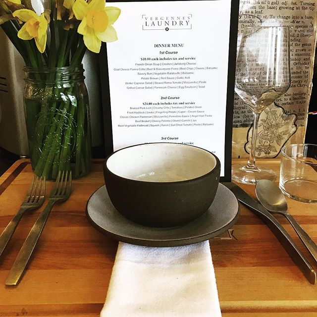 Celebrate anything this weekend. You deserve it. ✨ ✨ ✨ #vergennes #restaurant #dinnerdate #eatout #eeeeeats #farmtofork #middlebury #shelburne #winewinewine #tablefortwo #meetme #plateart #prefixe #fridaynightlights #downtowndining #vermontbyvermonters #vteats