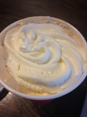Where are my praline bits that are supposed to go on top, Starbucks? #mad