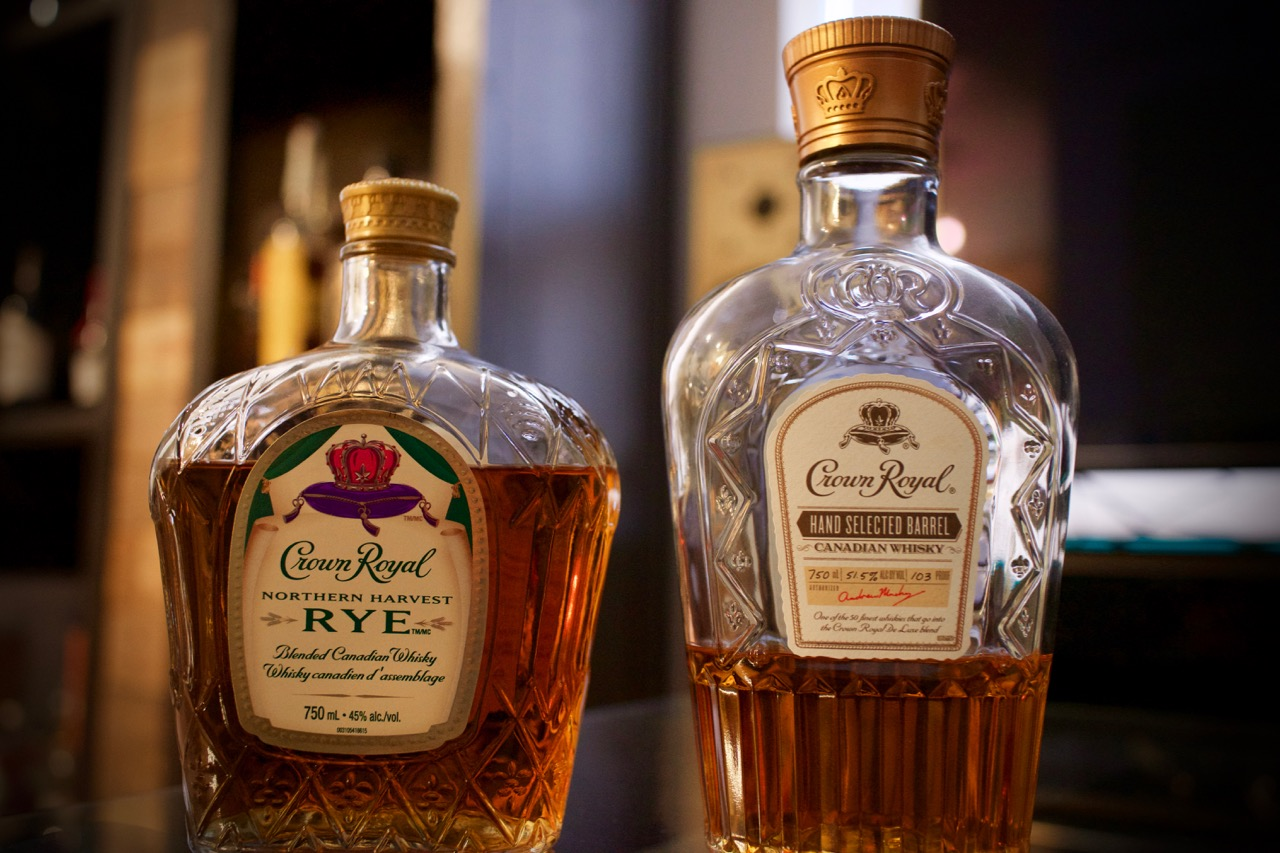 Jim Murray's favourite 2016 whisky along-side Crown Royal Hand Selected Barrel
