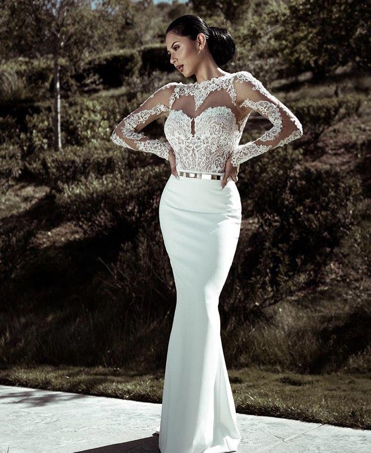 Jenny Ruiz @jen_ny69 - Wearing Berta said #YEStotheDRESS at Mon Amie Bridal Salon