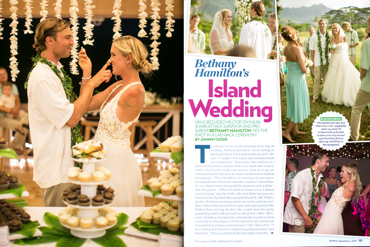 Bethany Hamilton looked amazing in her gown from Mon Amie Bridal Salon!