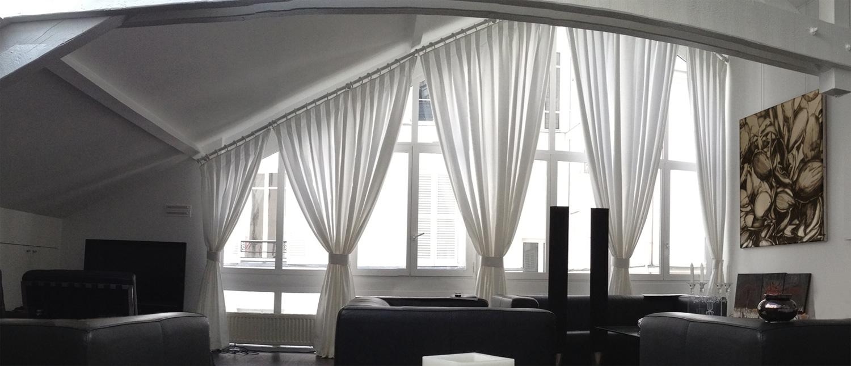 Pose De Tringle À Rideaux Au Plafond tringles à angles aigus — rideaux rive gauche
