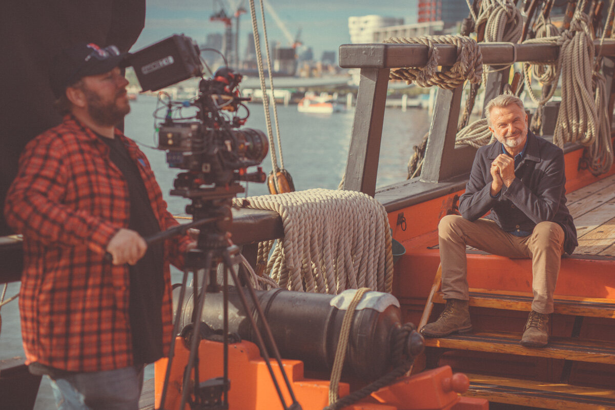 Mick Jones Shooting Sam Neill For The History Channel