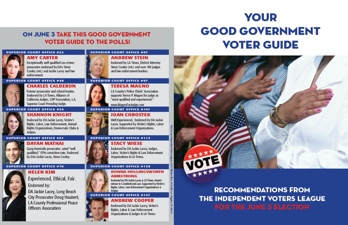 Independent Voter Guide, Front and Back