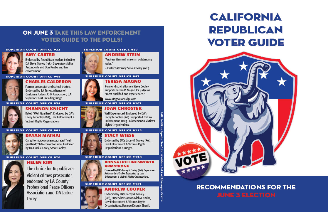 Republican Voter Guide, Front and Back