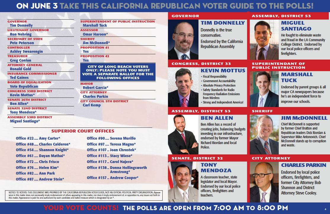 Republican Voter Guide, Inside