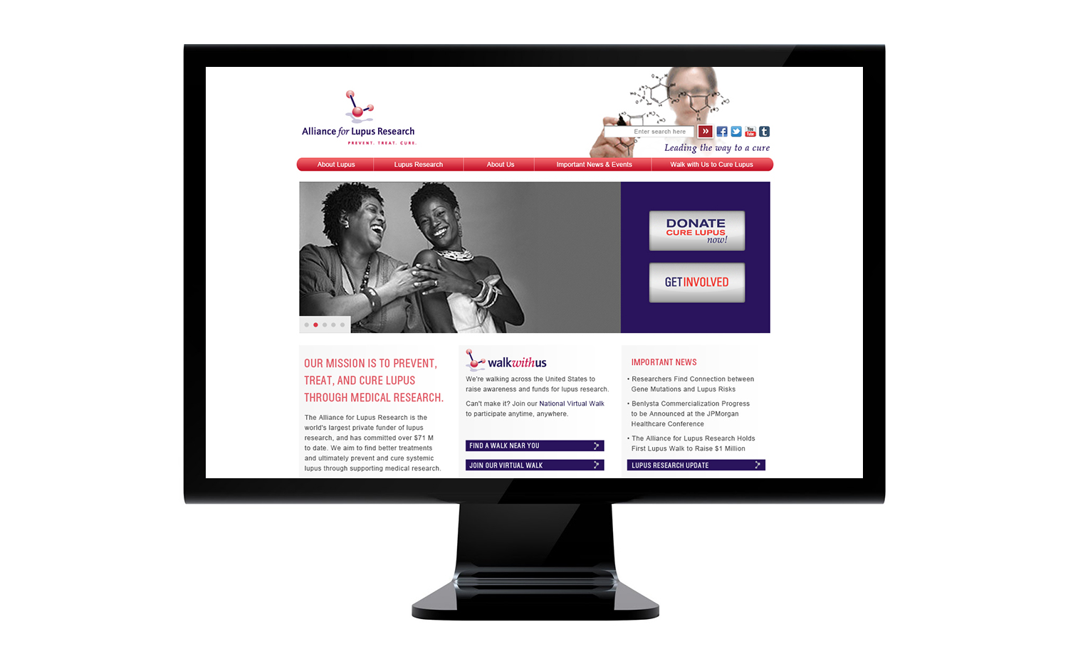 Alliance for Lupus Research Website Homepage