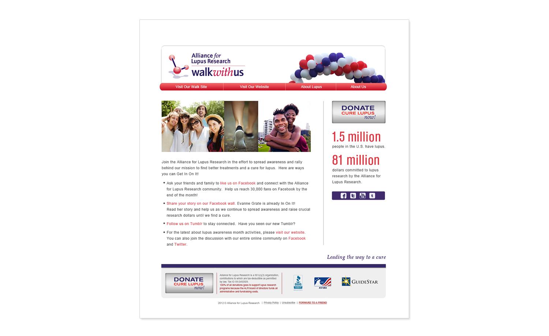 Alliance for Lupus Research Walk Program E-Newsletter