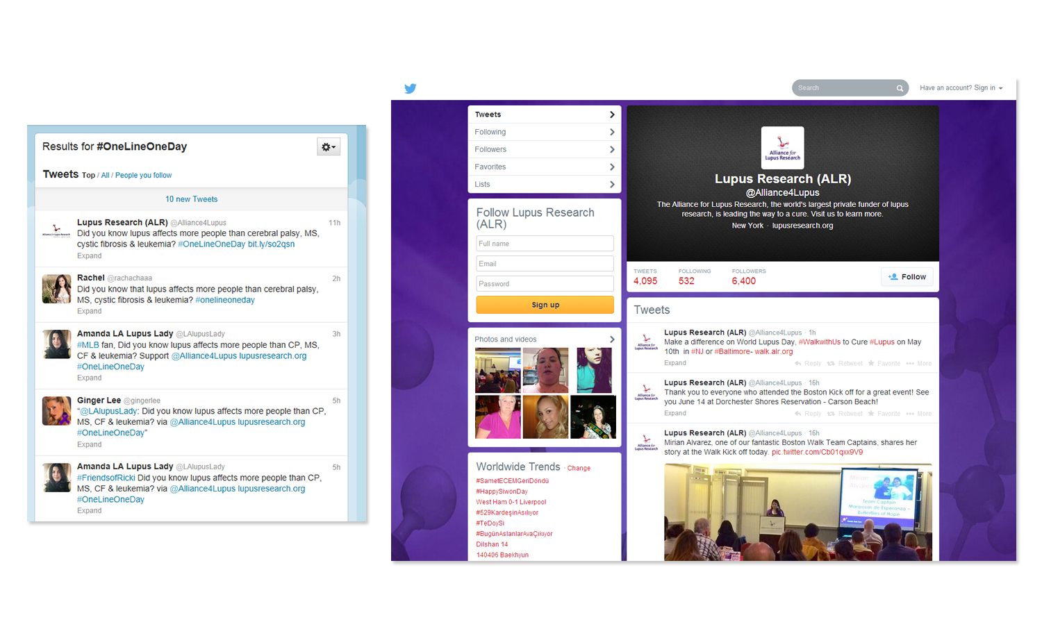 Alliance for Lupus Research Social Media Campaign Twitter