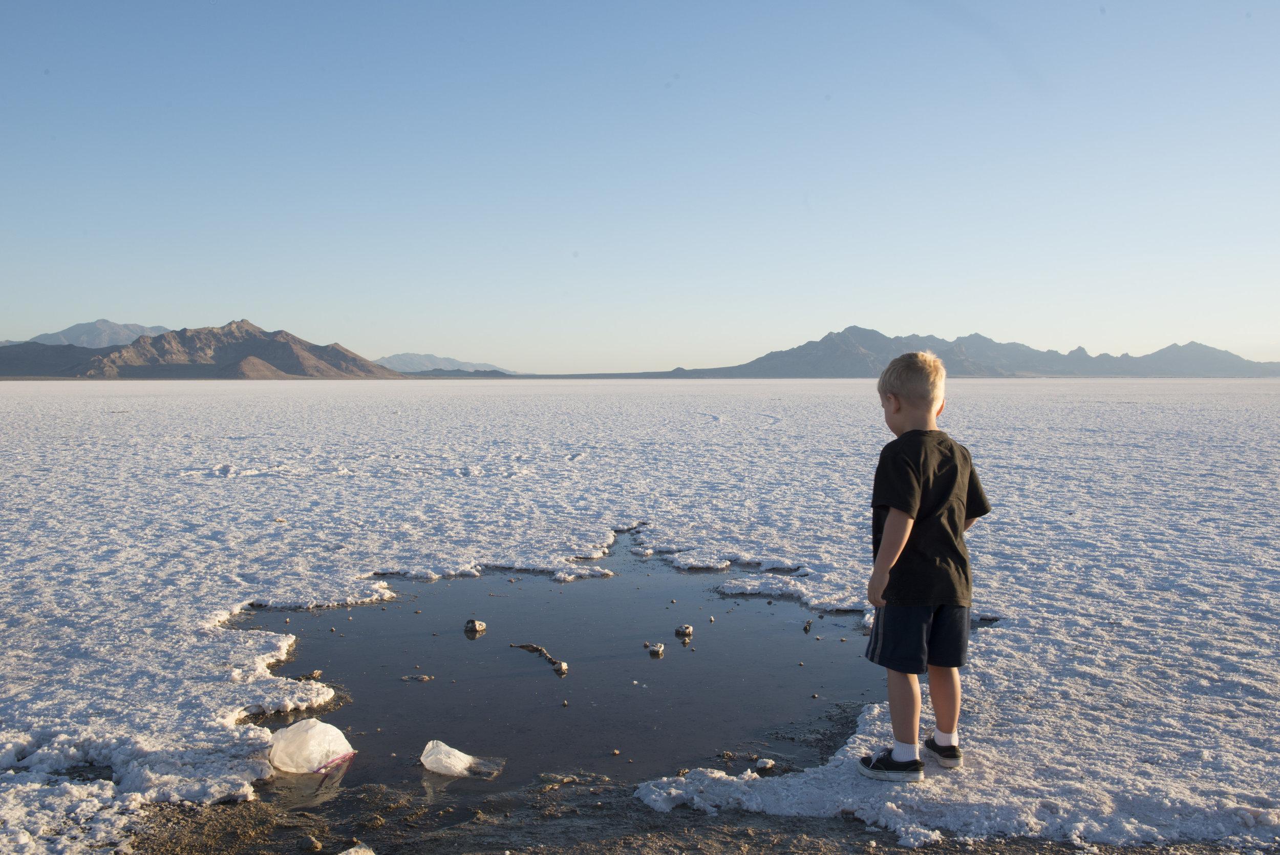 Bonneville Salt Flats, UT.