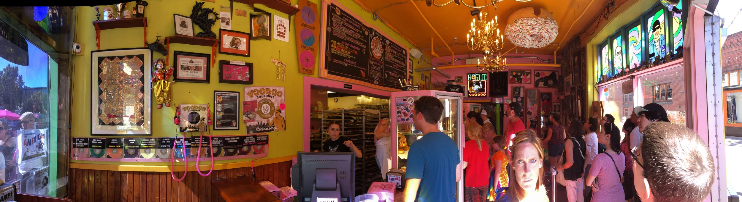 Voodoo Donuts... our destination, the thing that kept our kids going. Lol