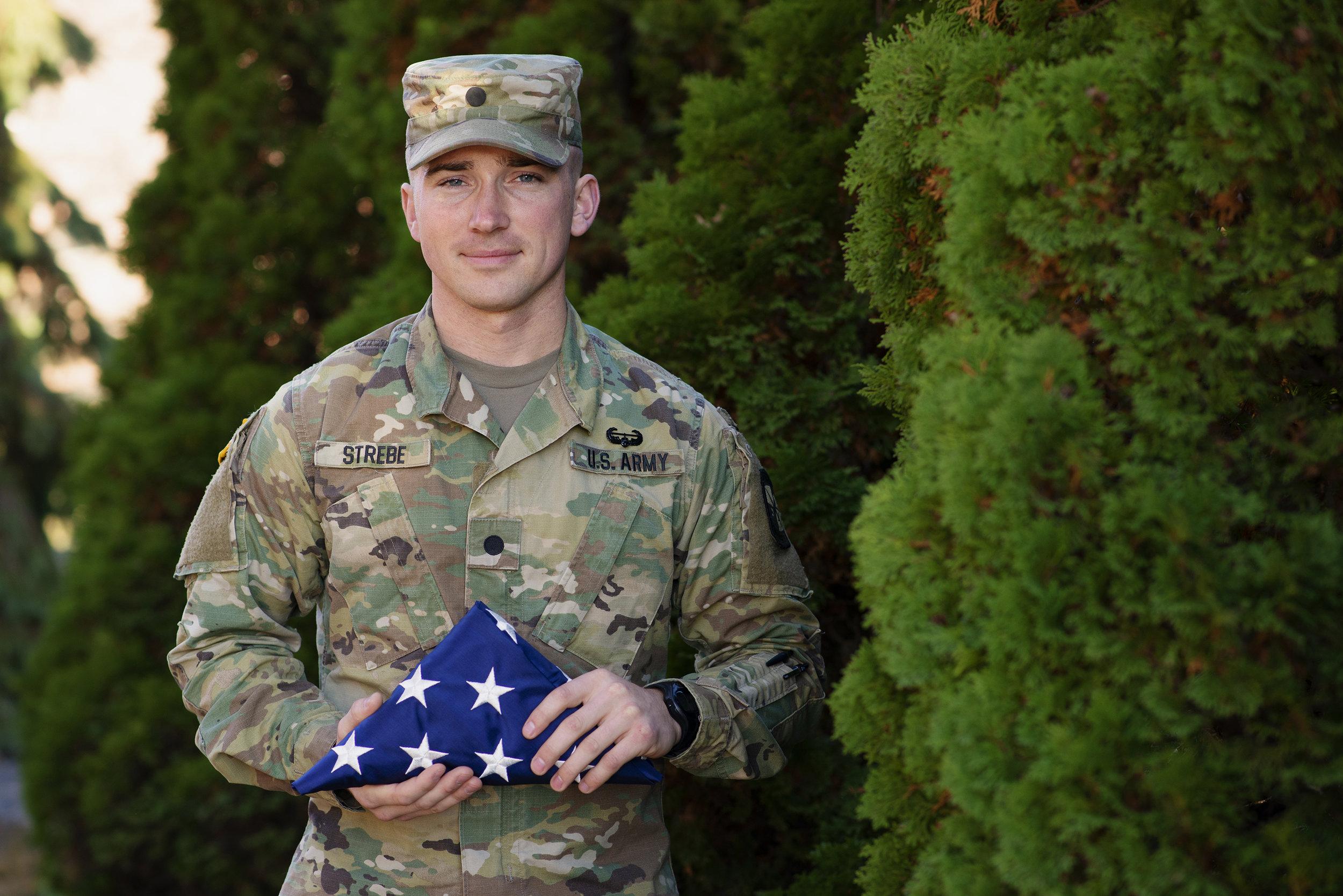Veteran : Environmental Portrait done for UWRF - a celebration of Student Veterans attending school.
