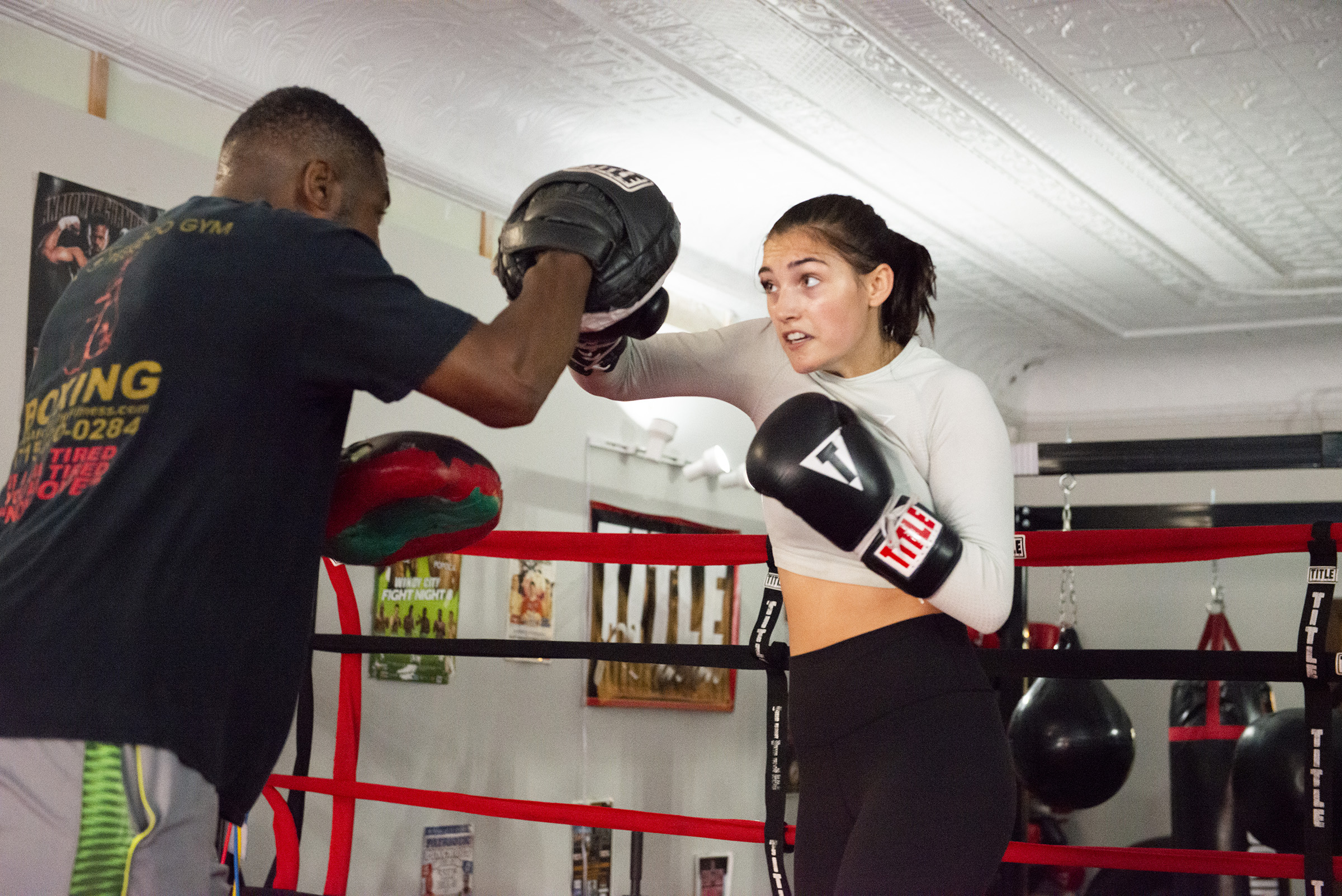Training at Peek-a-Boo Boxing Gym