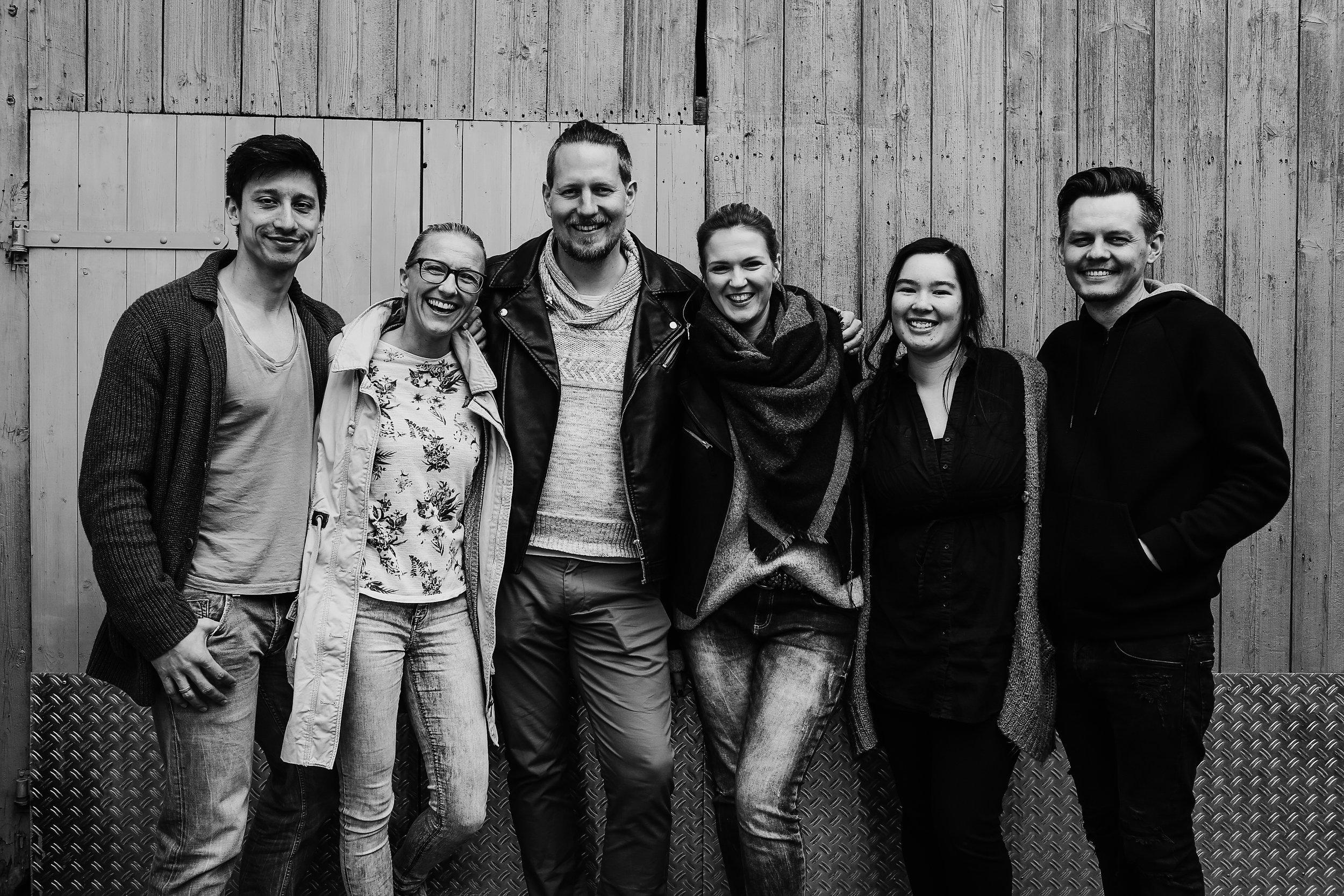 Olli, Nadine, Jan, Nicole, Kate und Sergej