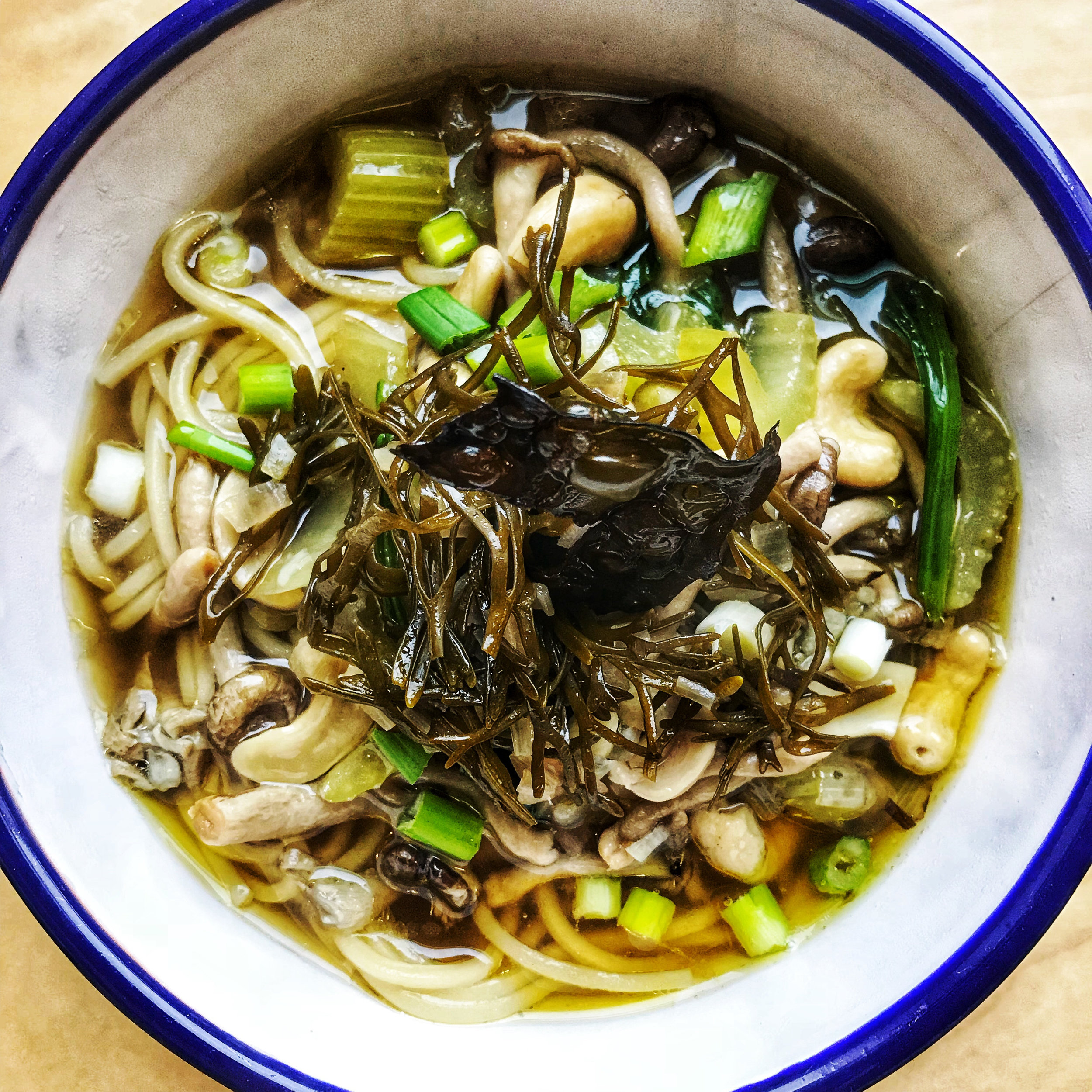 Seaweed Chicken Broth - with pickled channel wrack and crispy kelp