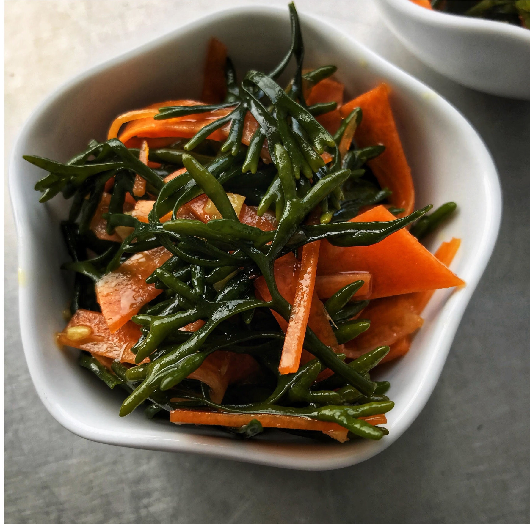 Channel Wrack Salad - with an Asian inspired dressing