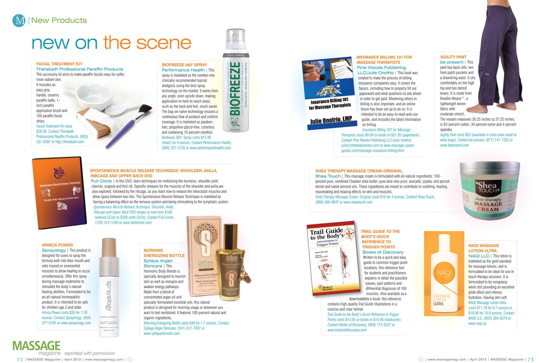 Massage Magazine - April 2013