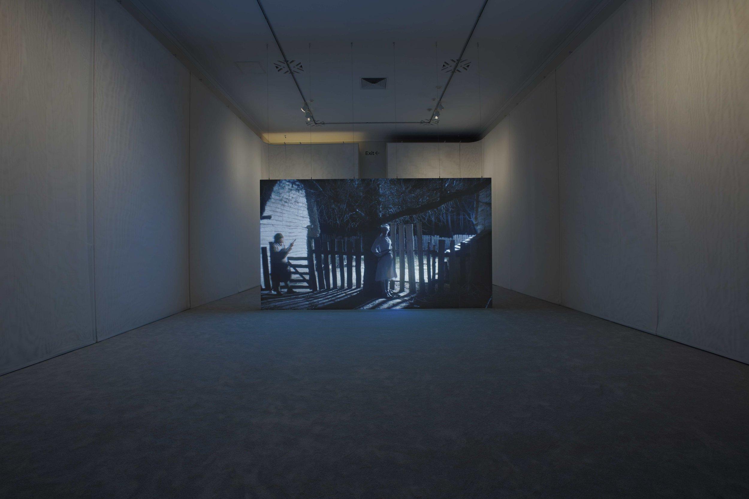 Wil-O-Wisp, Rachel Rose, 2018. Installation view: Rachel Rose, Philadelphia Museum of Art, 2 May - 16 September 2018. Courtesy of the Artist, Pilar Corrias Gallery, and Gavin Brown's Enterprise.