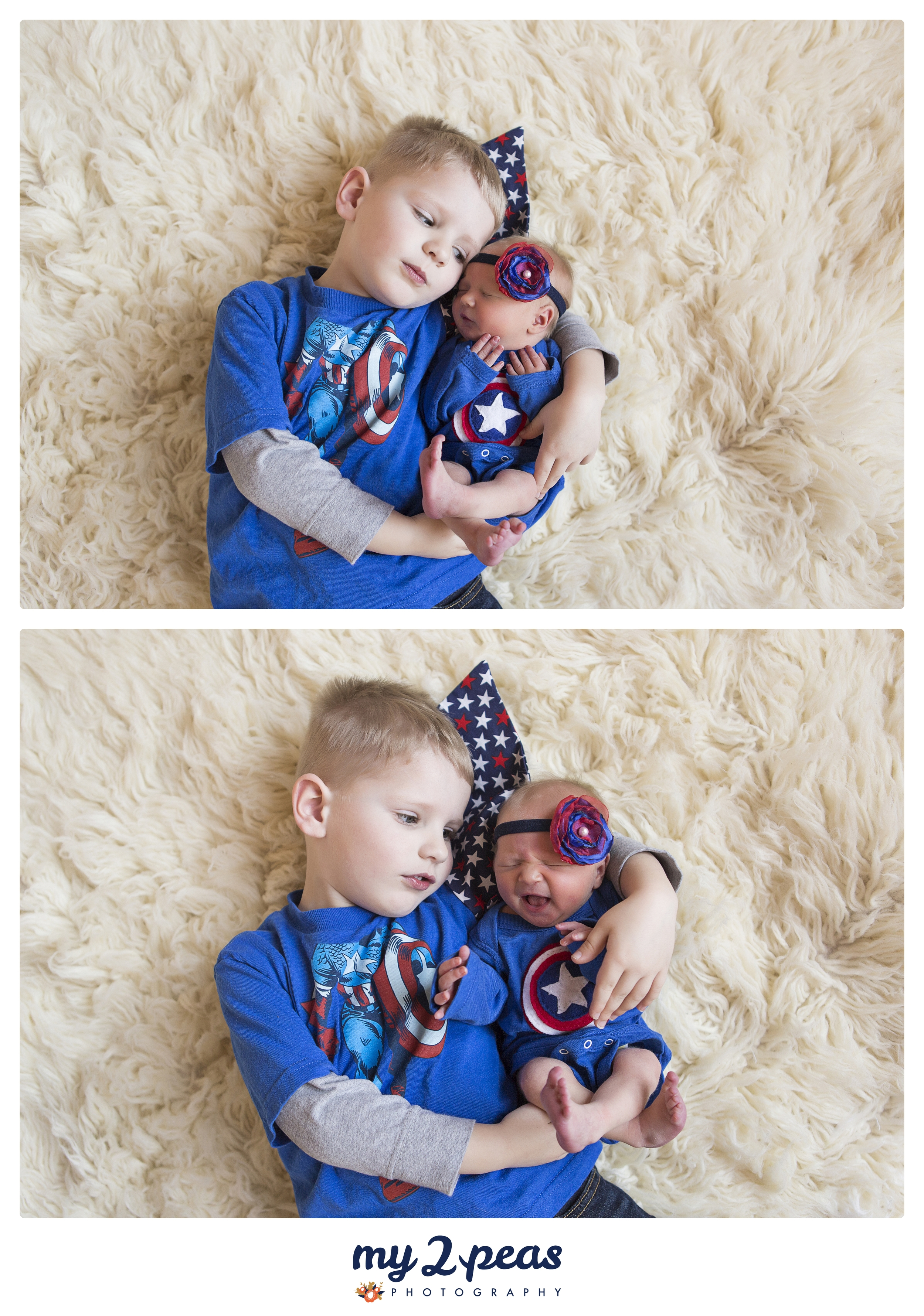 He also picked out these sweet little Captain America outfits... Mommy and Daddy's little super heros!!!