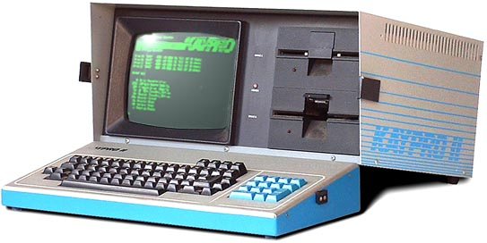 Art's beloved KAYPRO II that takes 5.25-inch floppy disks