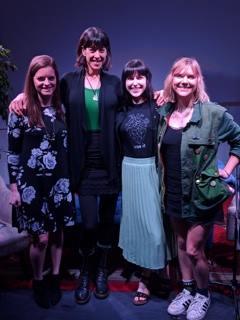 Katherine Forbes, Gayle Davidson, Elisabeth Beckwitt, and DJ Pepper