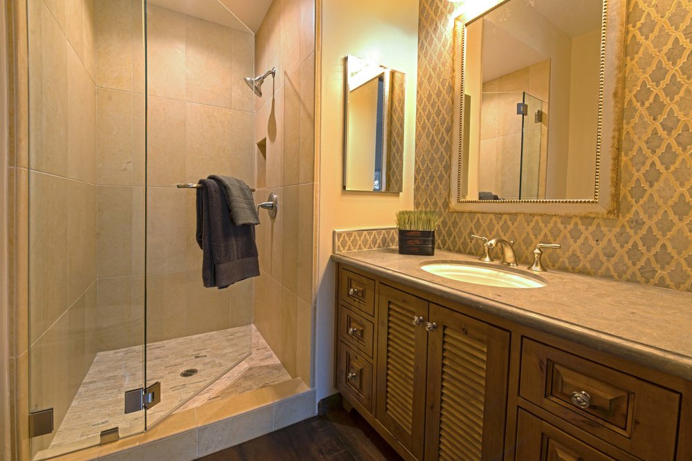 Mediterranean Custom Bathroom