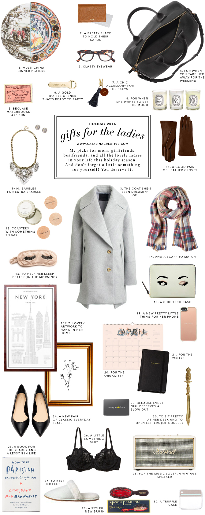 Catalina Creative Holiday 2014 Gift Guide - Ladies