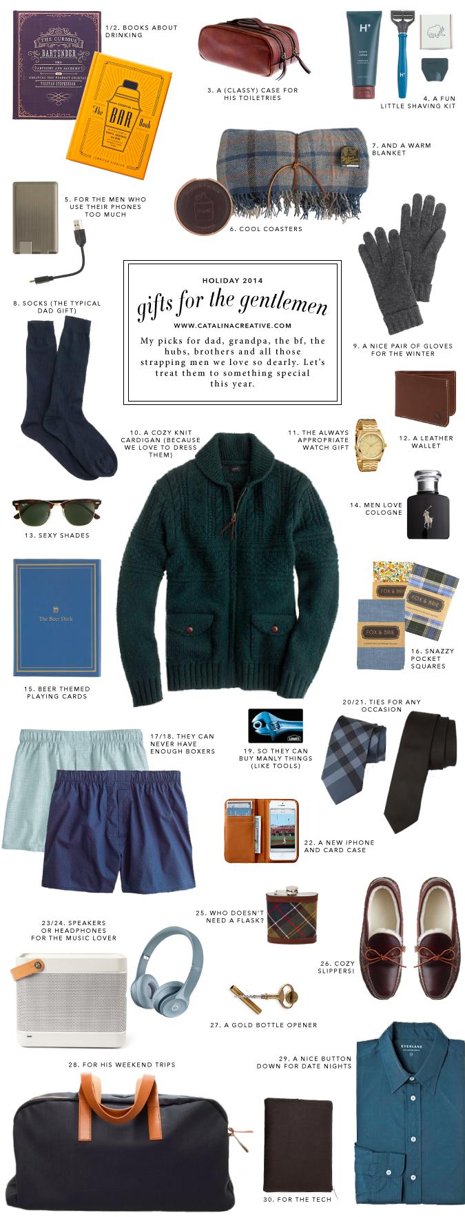 Catalina Creative Holiday 2014 Gift Guide - Gentlemen