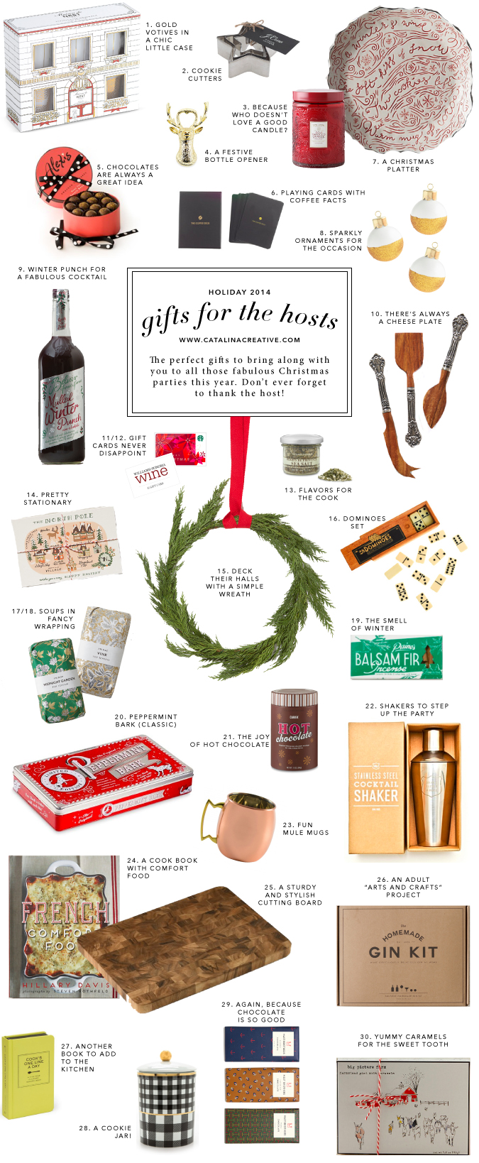 Catalina Creative Holiday Gift Guide 2014 - Hosts