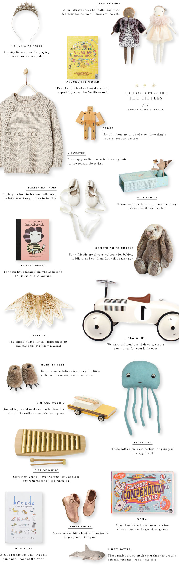 Gift Guide: The Littles on Natalie Catalina
