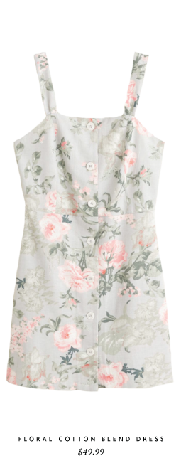 Floral Cotton Blend Dress