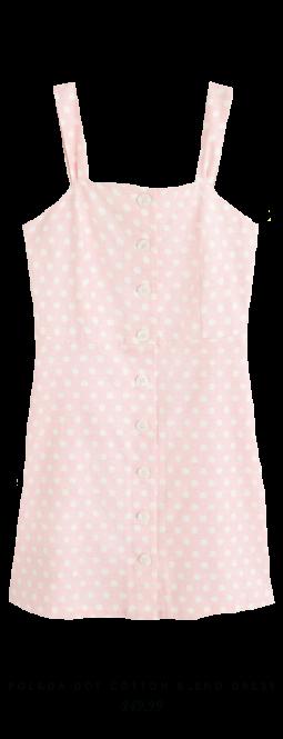 Polka Dot Cotton Blend Dress