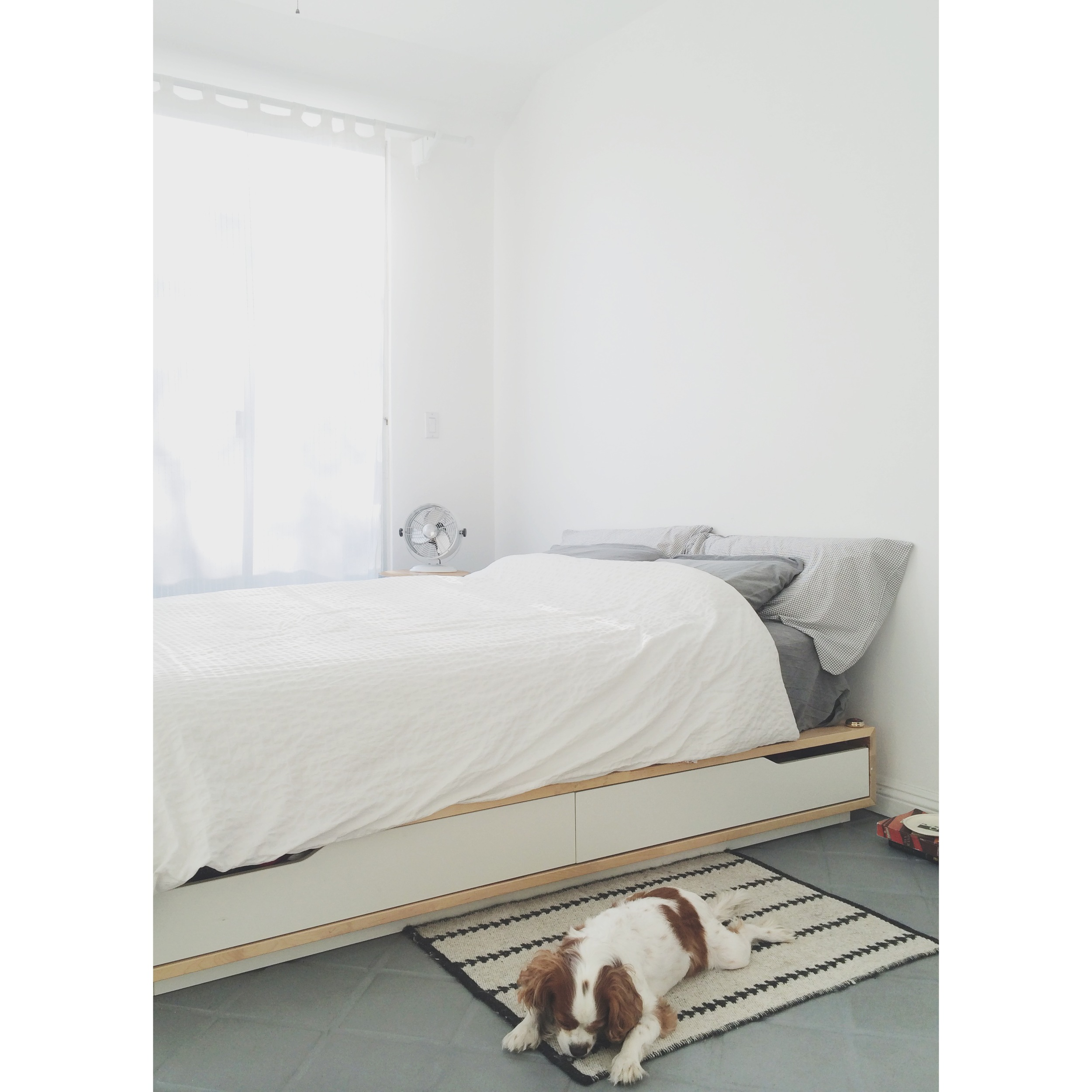 ikea bed frame, scored brand new at a super deal from craigslist