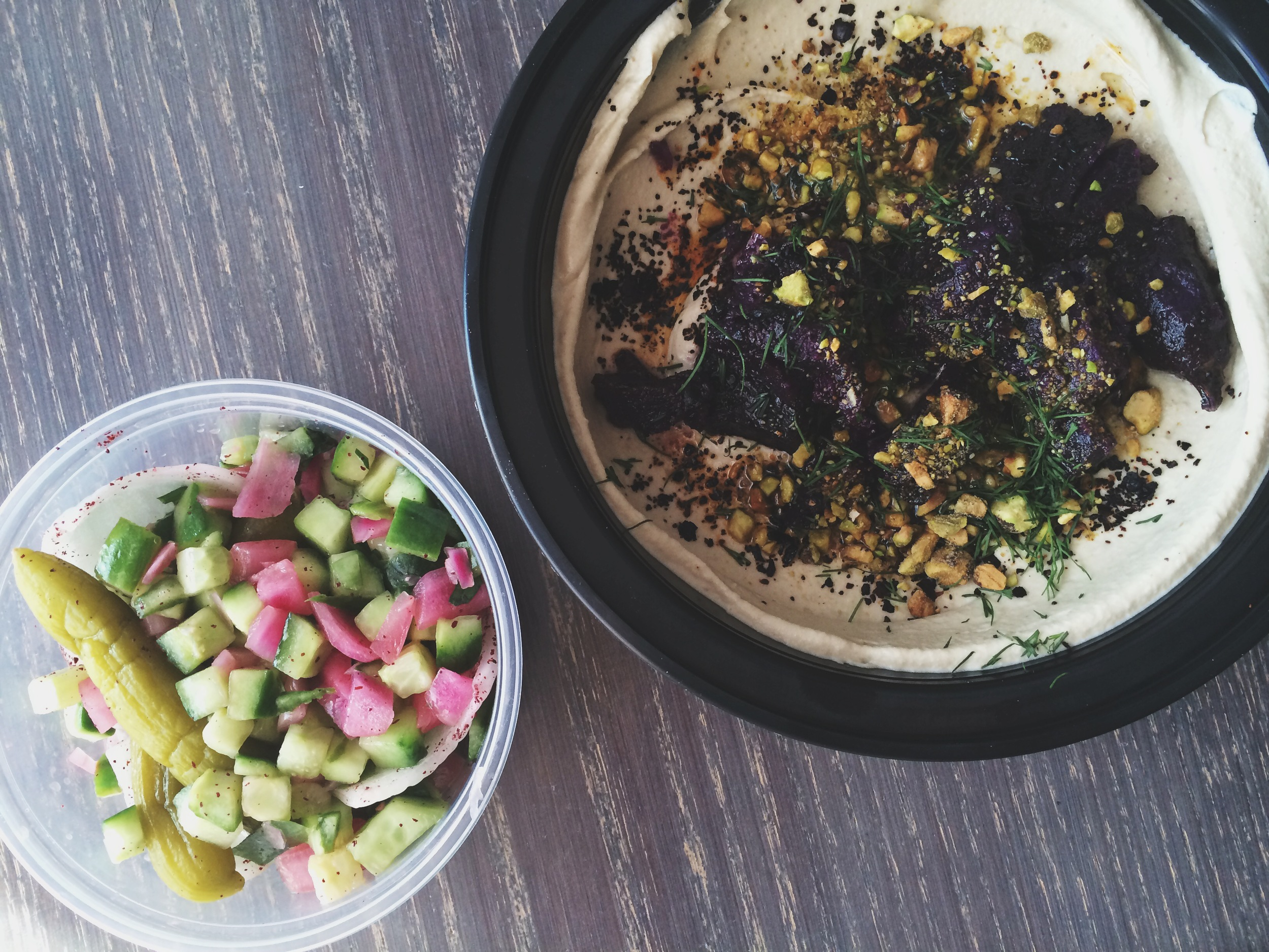 Purple Yam Hummus from Dizenoff on Sansom Street. THEEE BOMB DOT COM