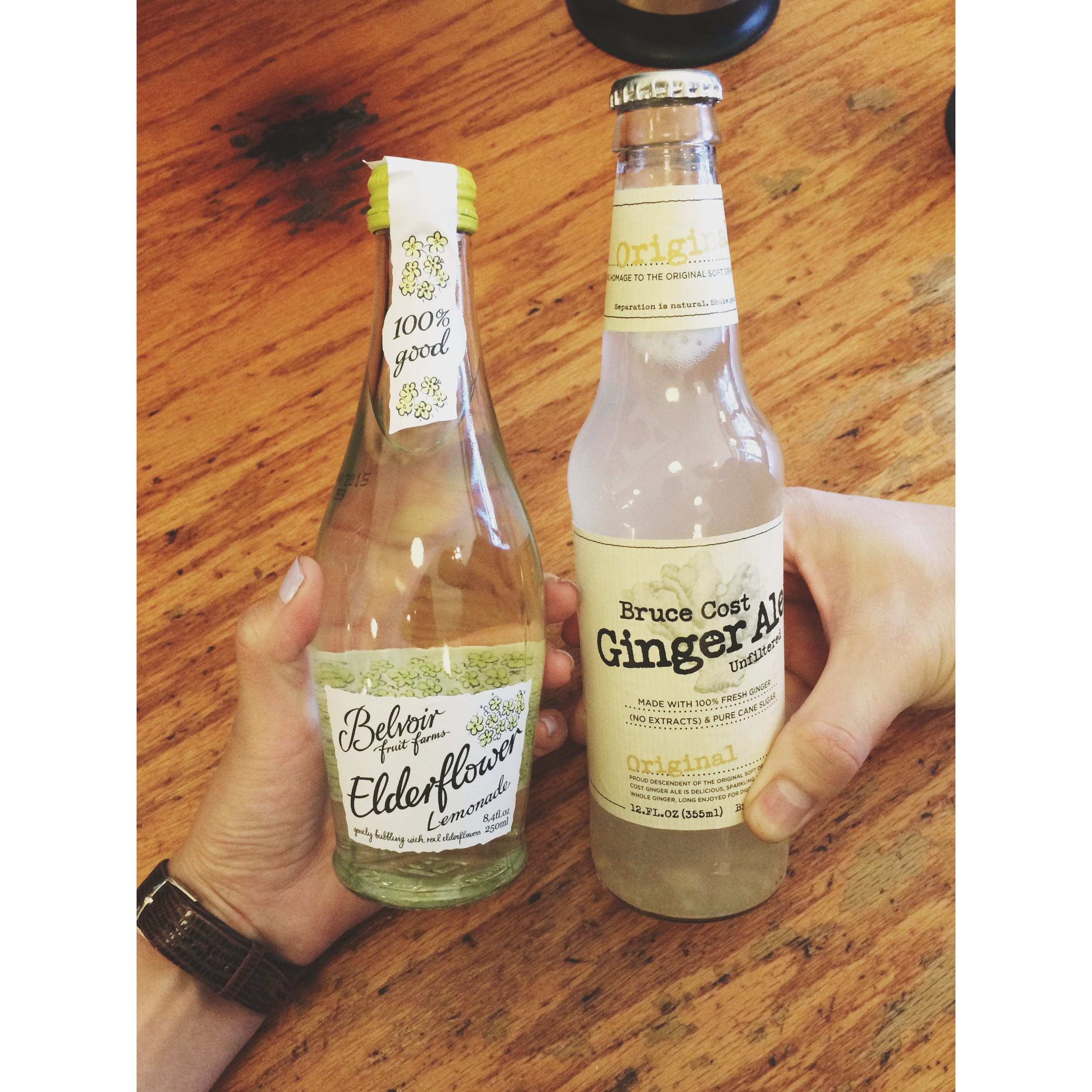 Elderflower Lemonade, taste like lychee, thumbs up.
