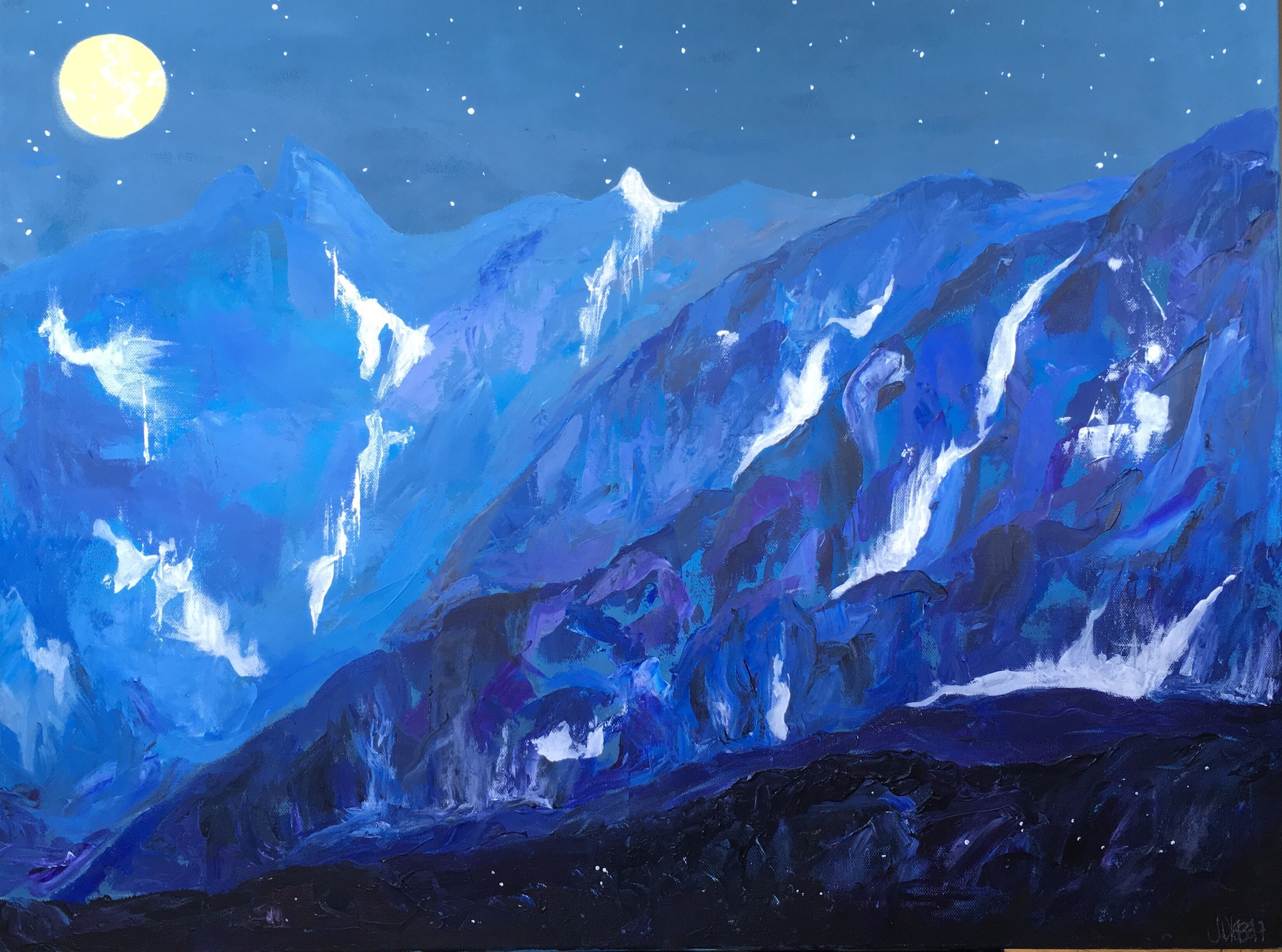 Like the Mountain / 24x30 / Acrylic / $400