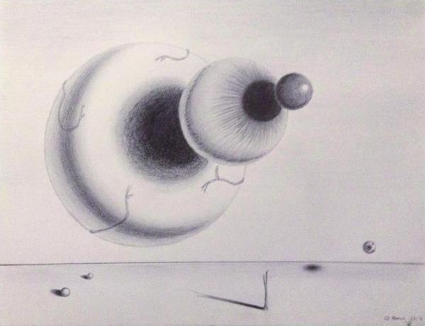 Eclipse / pencil, 11x14in / $120