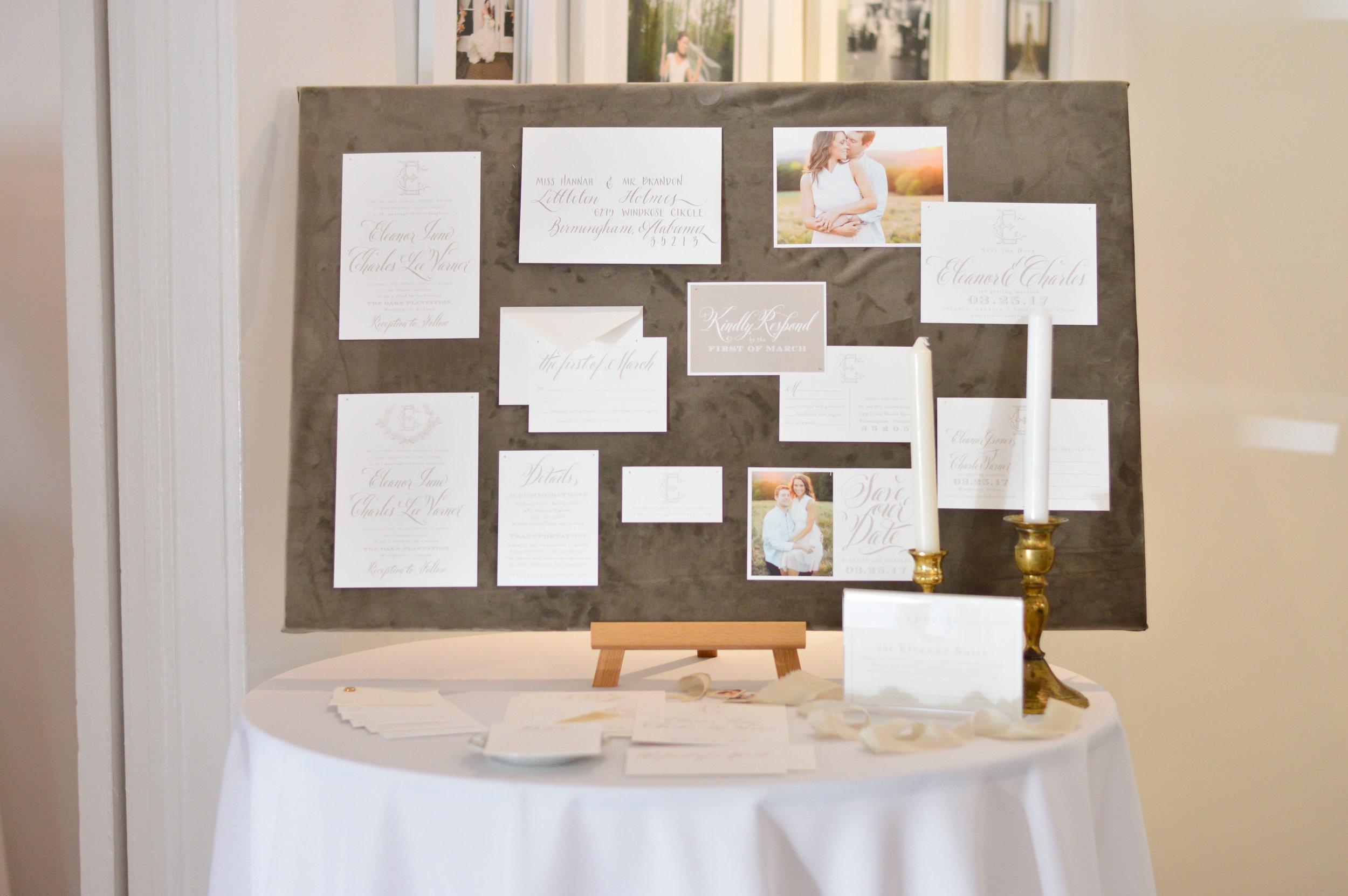 wedding invitation design board