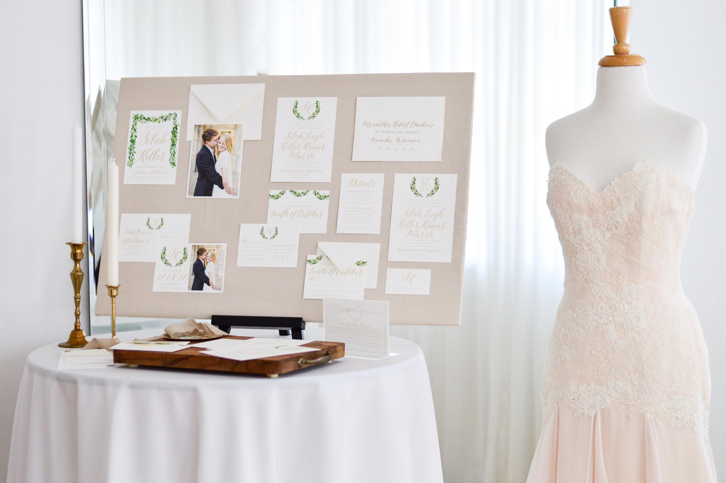 wedding invitations design board