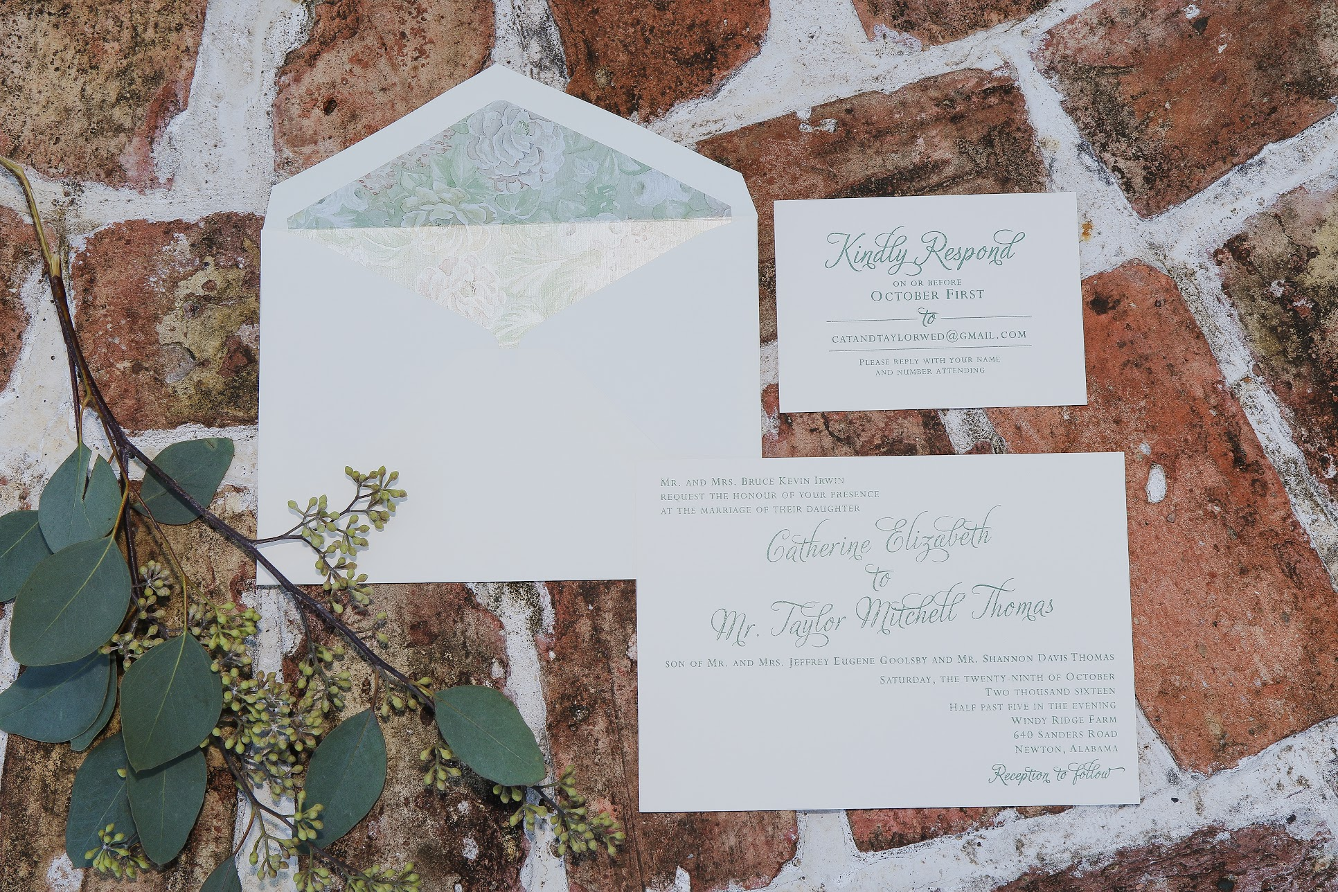 invitation suite wedding invitation calligraphy